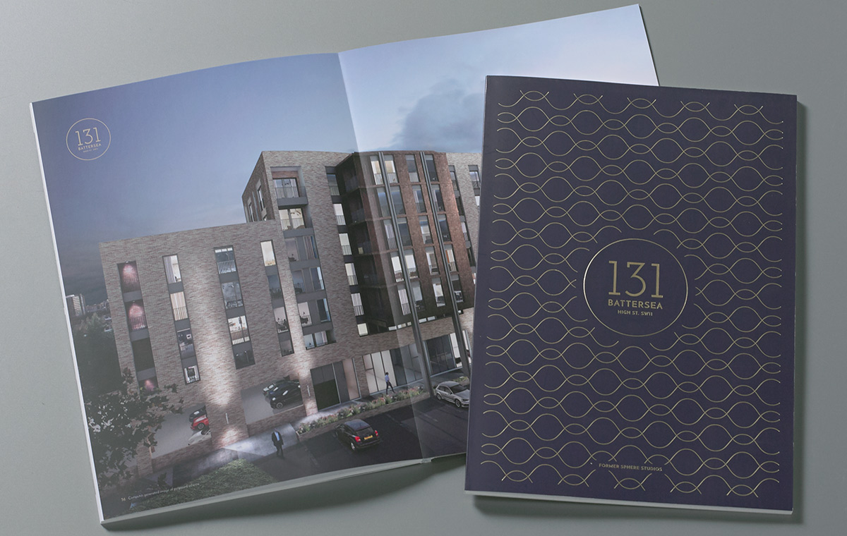131 Battersea High Street brochure design