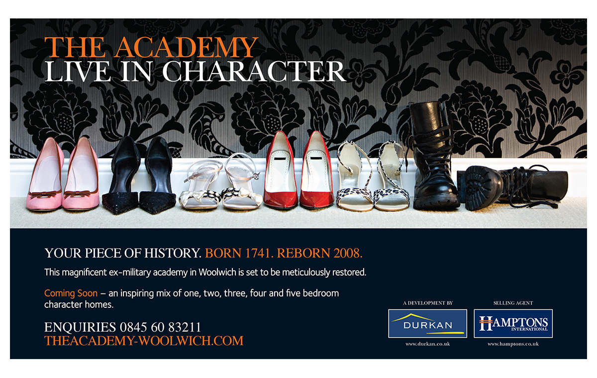 The Academy Woolwich advert