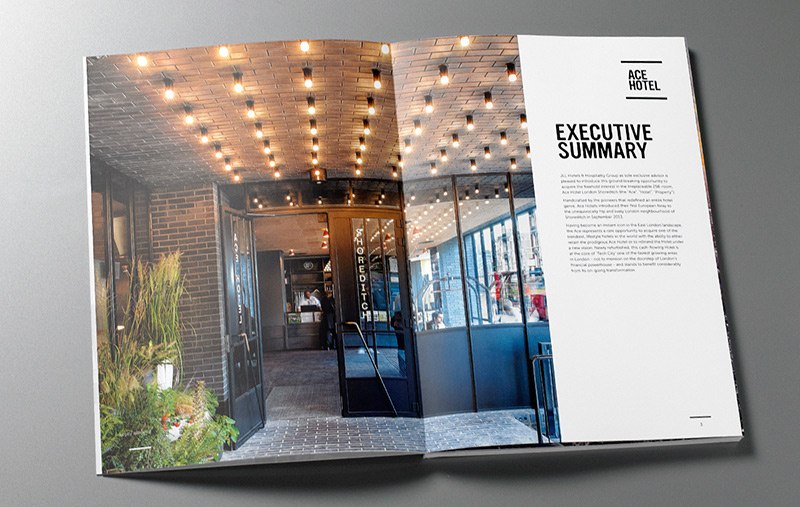 Ace Hotel London brochure