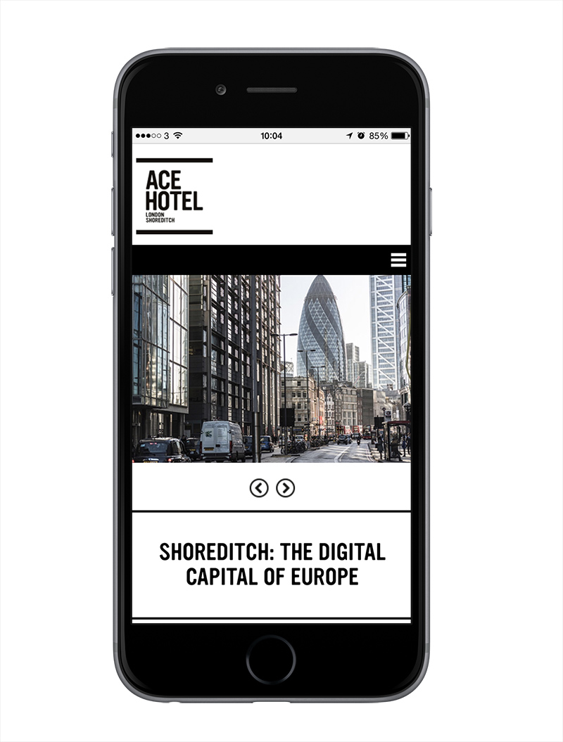 Ace Hotel London on iPhone
