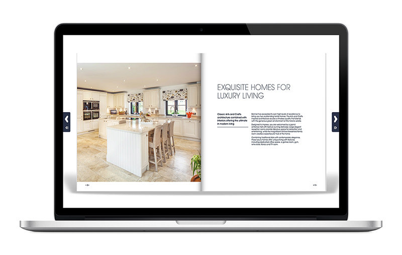 Banner Homes online flipbook brochure