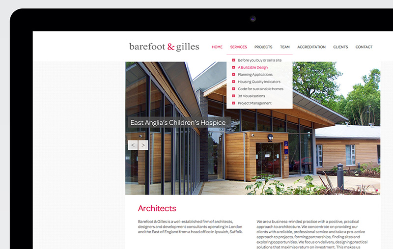 Barefoot and Gilles website