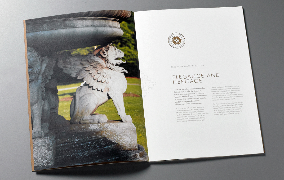 Bentley Priory brochure cover detail