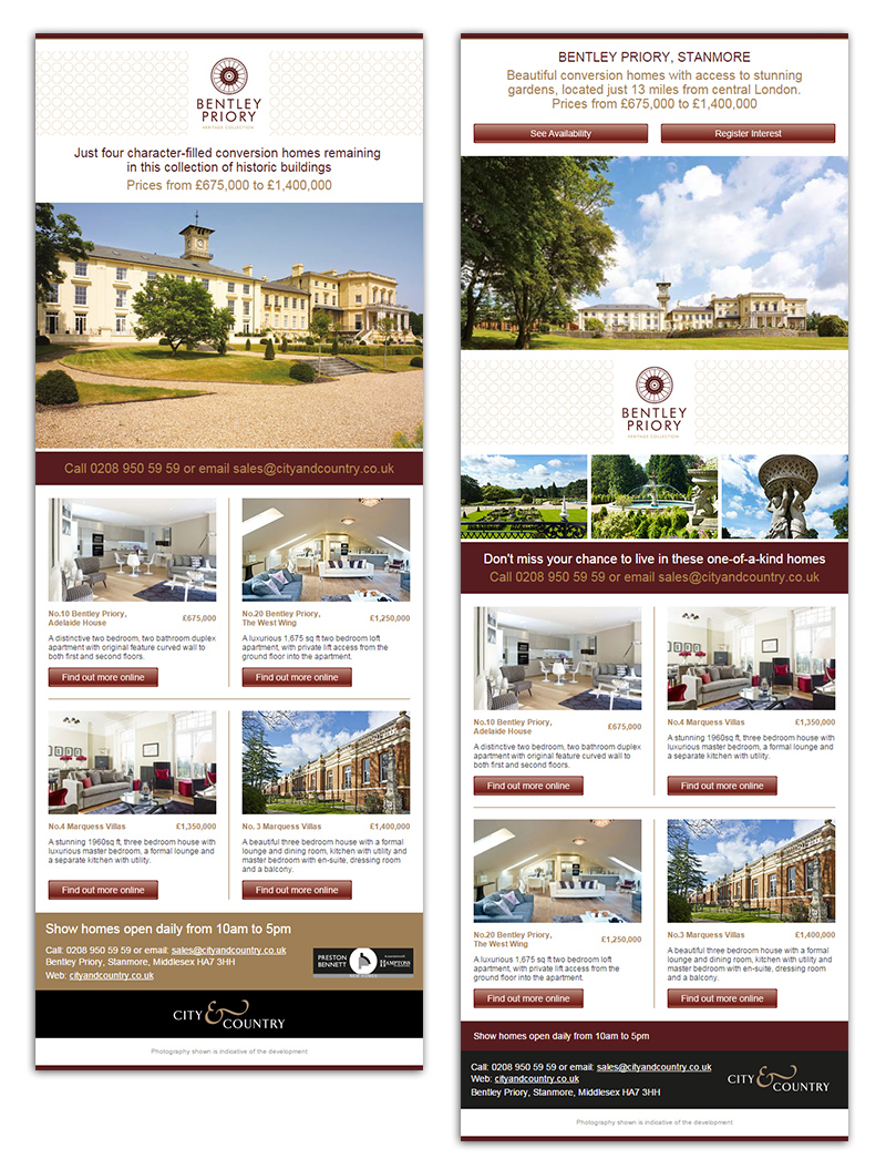 Bentley Priory Email Marketing