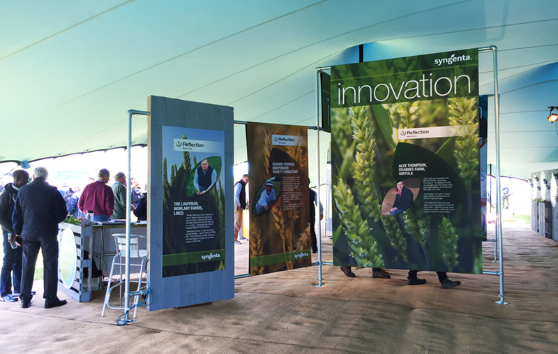 Syngenta tent at Cereals Event 2015