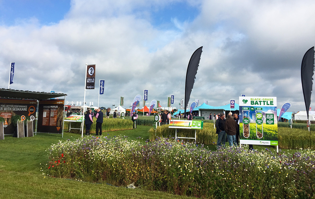 Syngenta tent at Cereals Event 2016