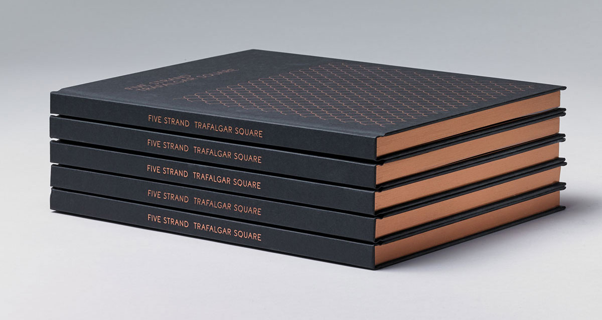 Five Strand brochure and spine