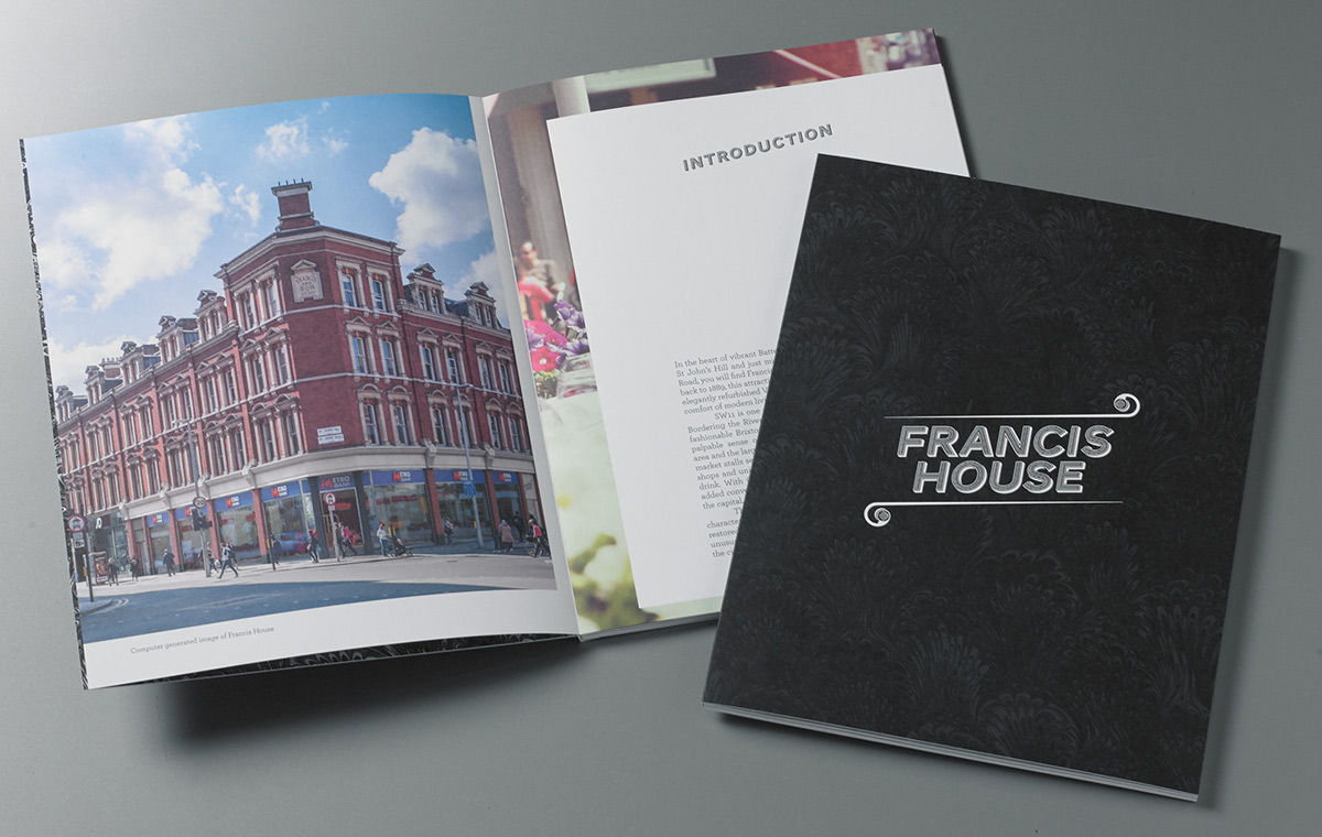 Francis House Clapham Brochure cover and spread