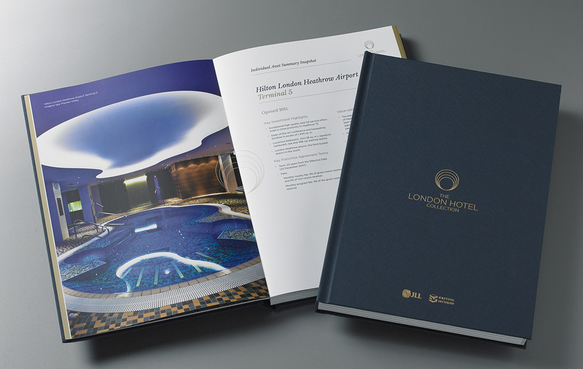 The London Hotel Collection brochure cover and spread