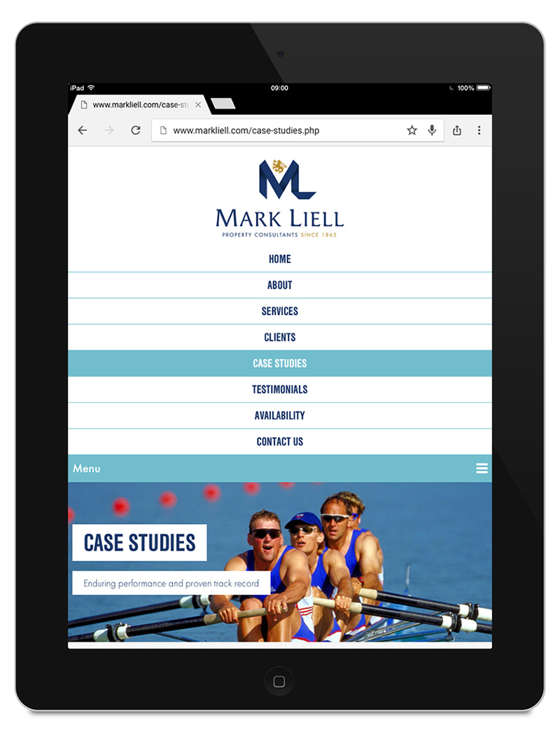 Mark Liell Property Consultants on the iPad
