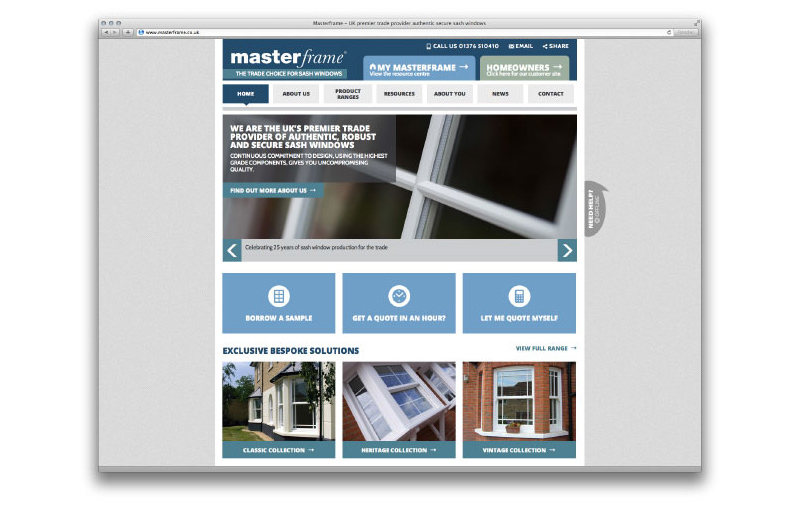 Masterframe Windows website