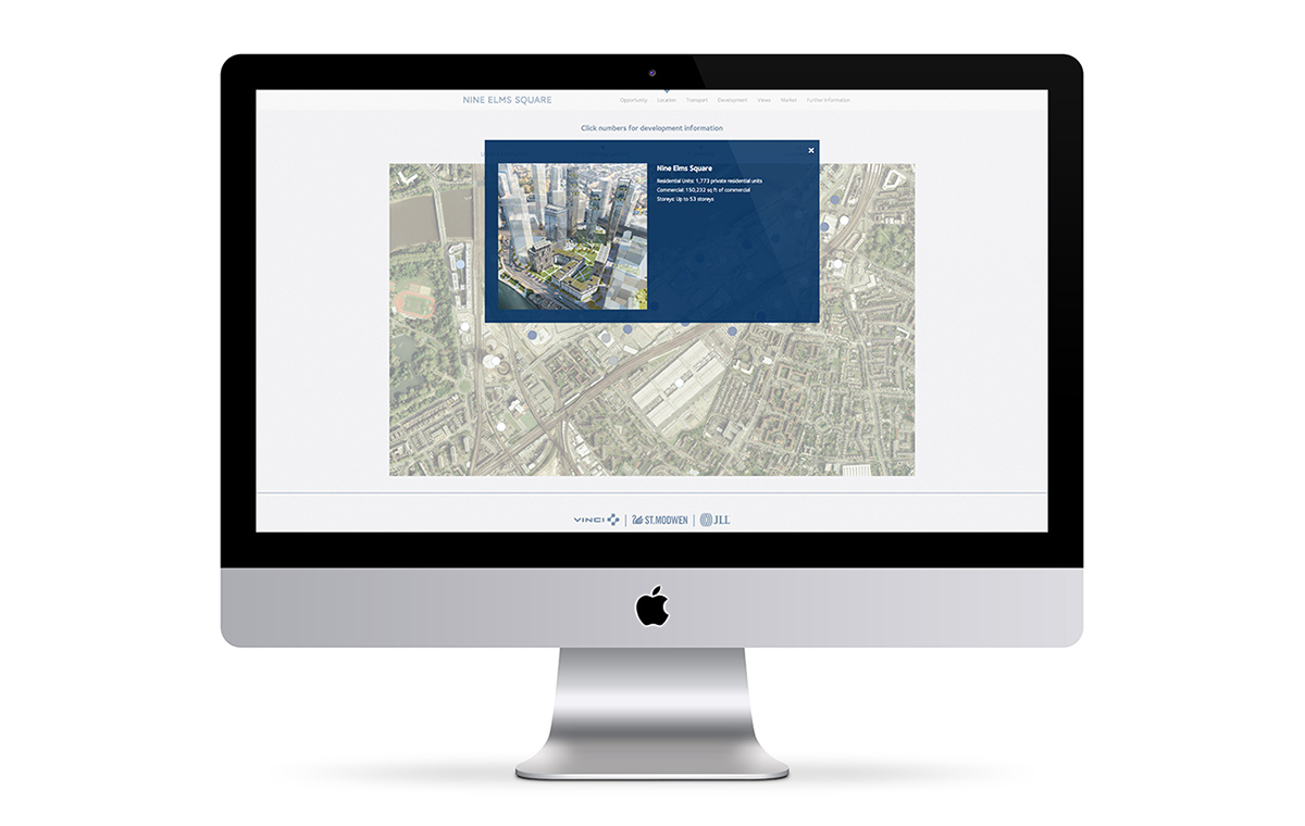 Nine Elms Square website interactive map