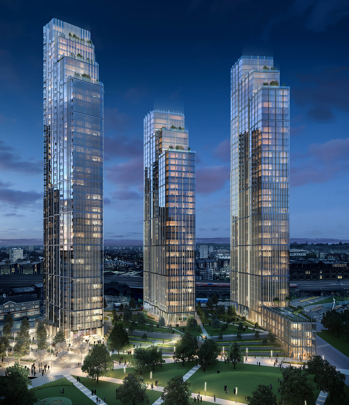 Nine Elms Square CGI