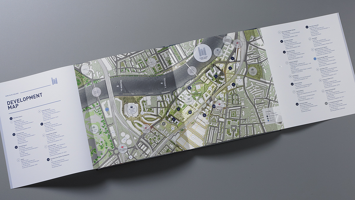 Nine Elms Square brochure map spread