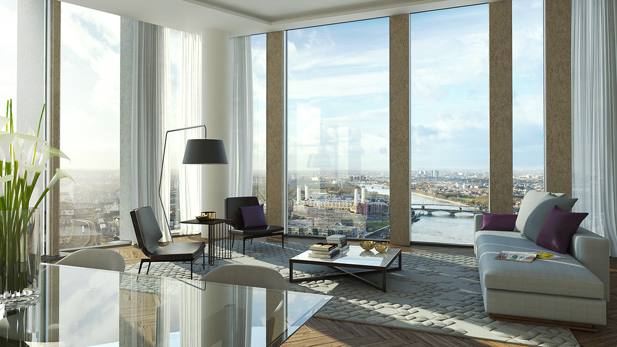 Nine Elms Square interior CGI
