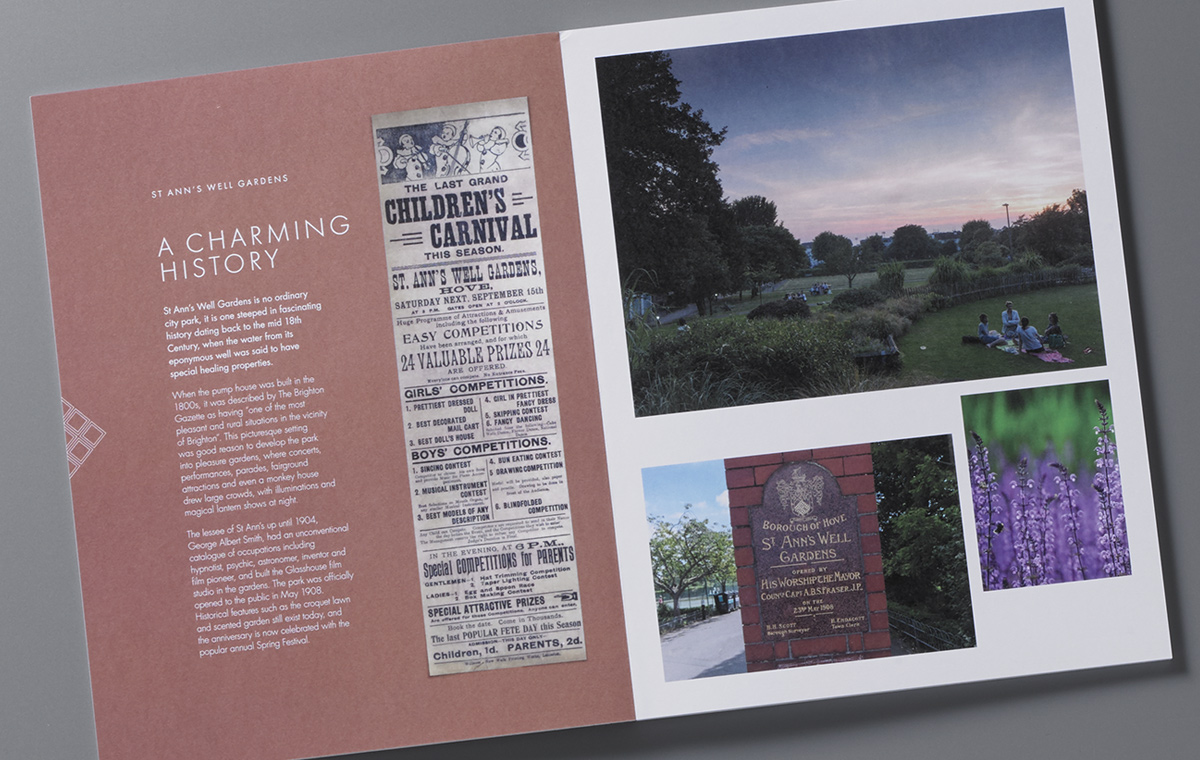 One Nizells Avenue history brochure spread