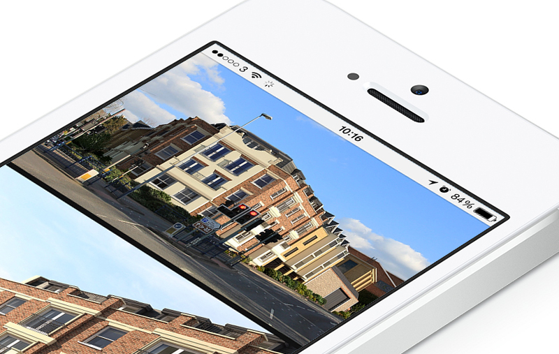 The Pembroke website viewed on iPhone 6