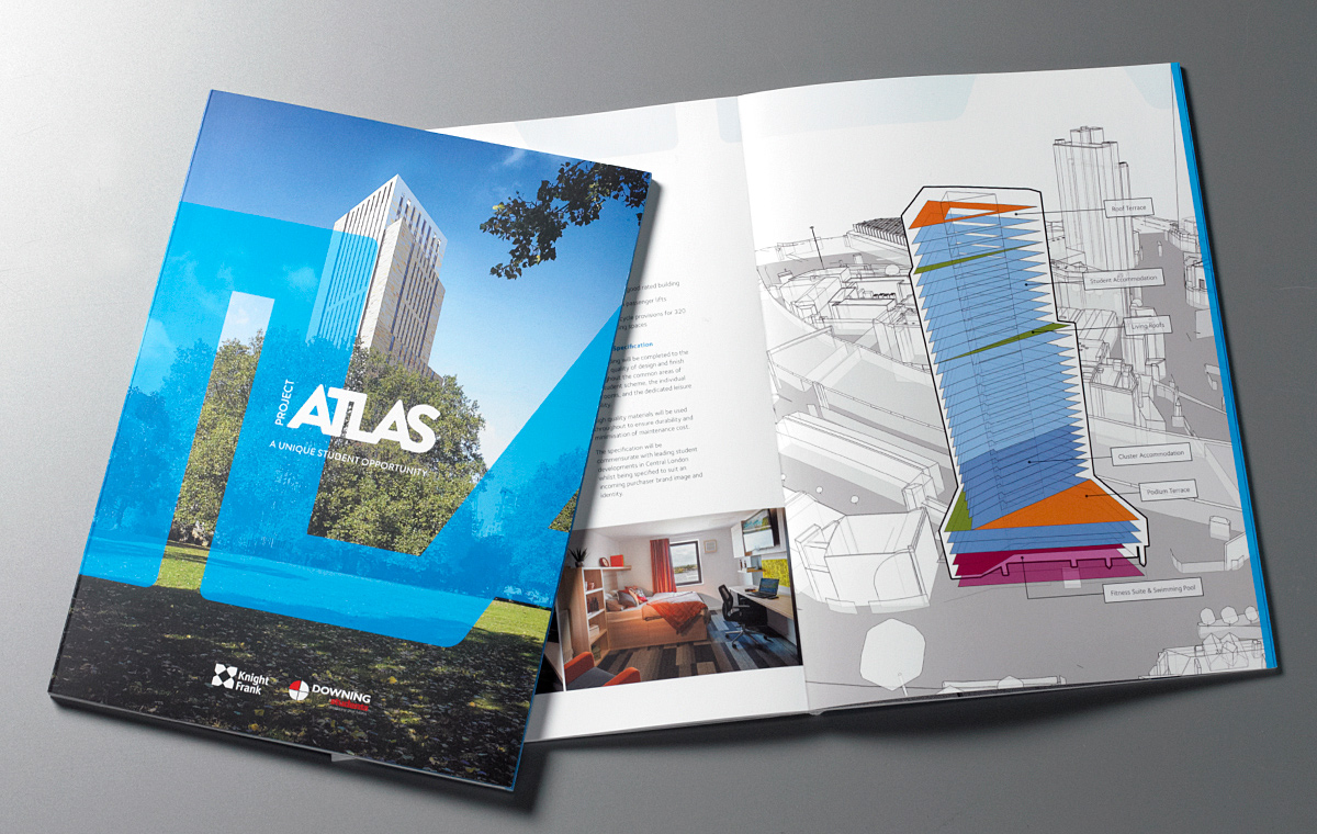 Knight Frank Atlas brochure cover and spread
