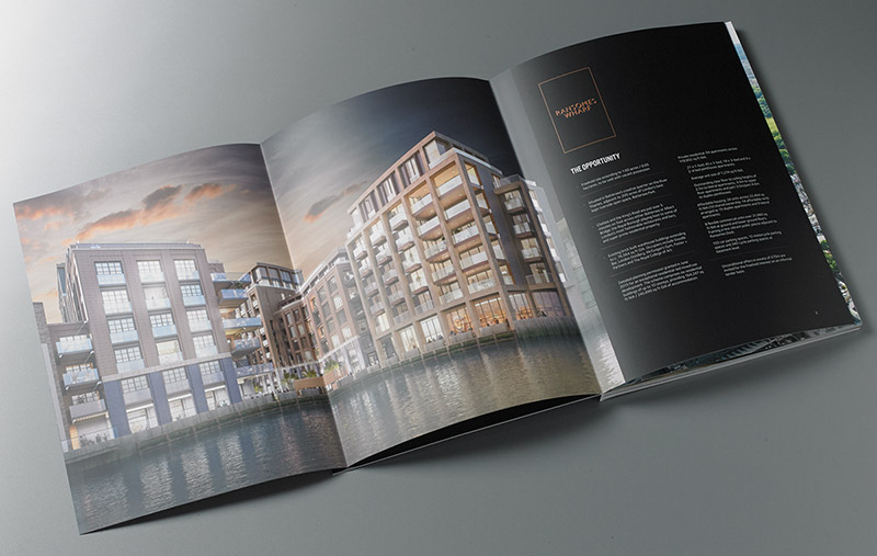 Ransome's Wharf brochure spread