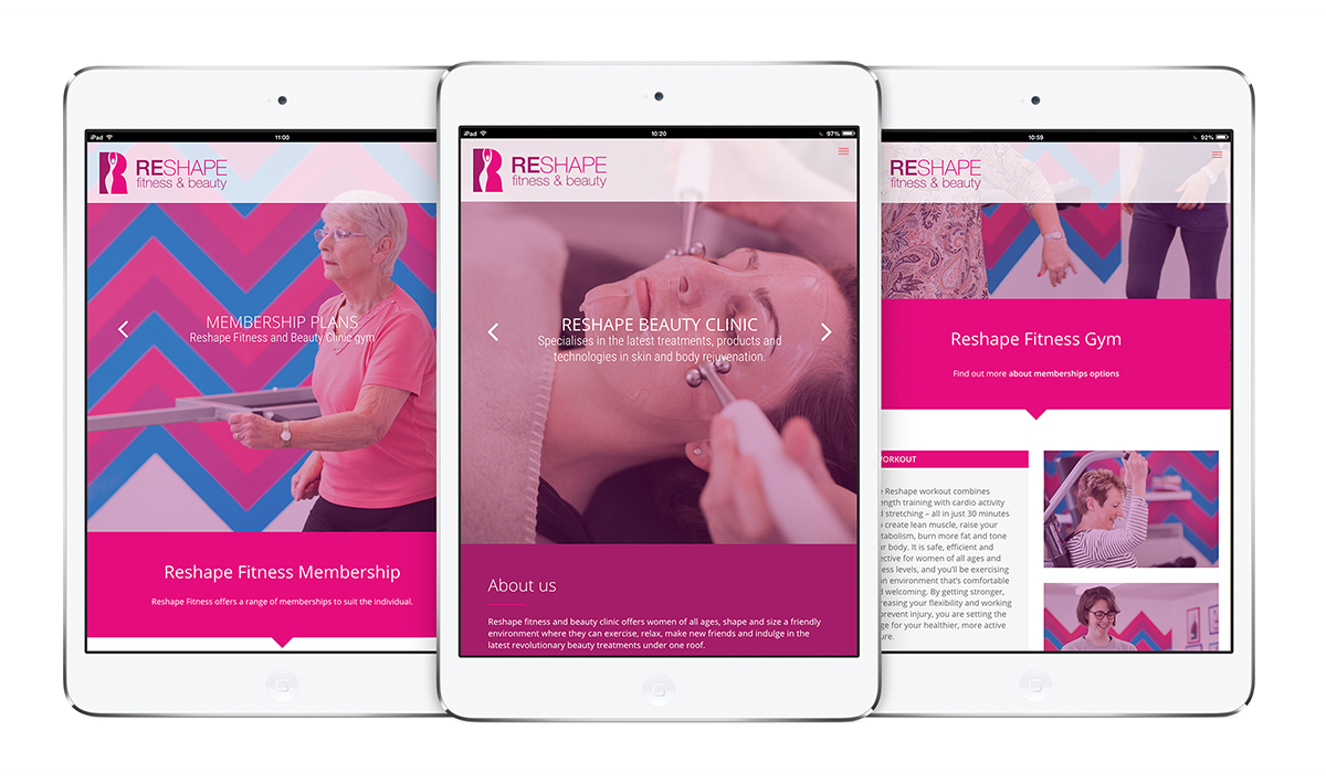 Reshape Fitness & Beauty responsive website