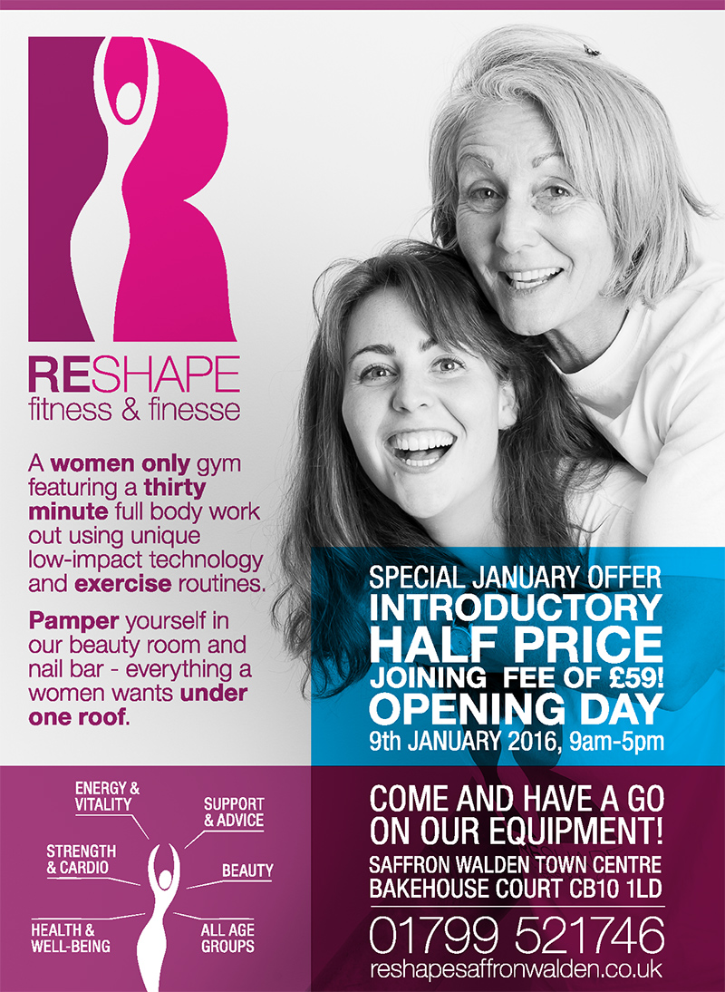 Reshape Fitness & Beauty open day leaflet