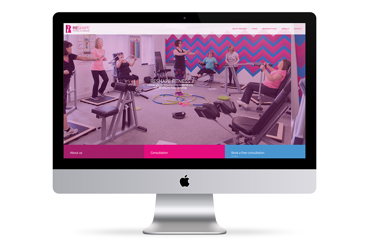 Reshape Fitness & Beauty website