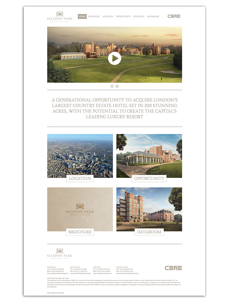 Selsdon Park Hotel home page