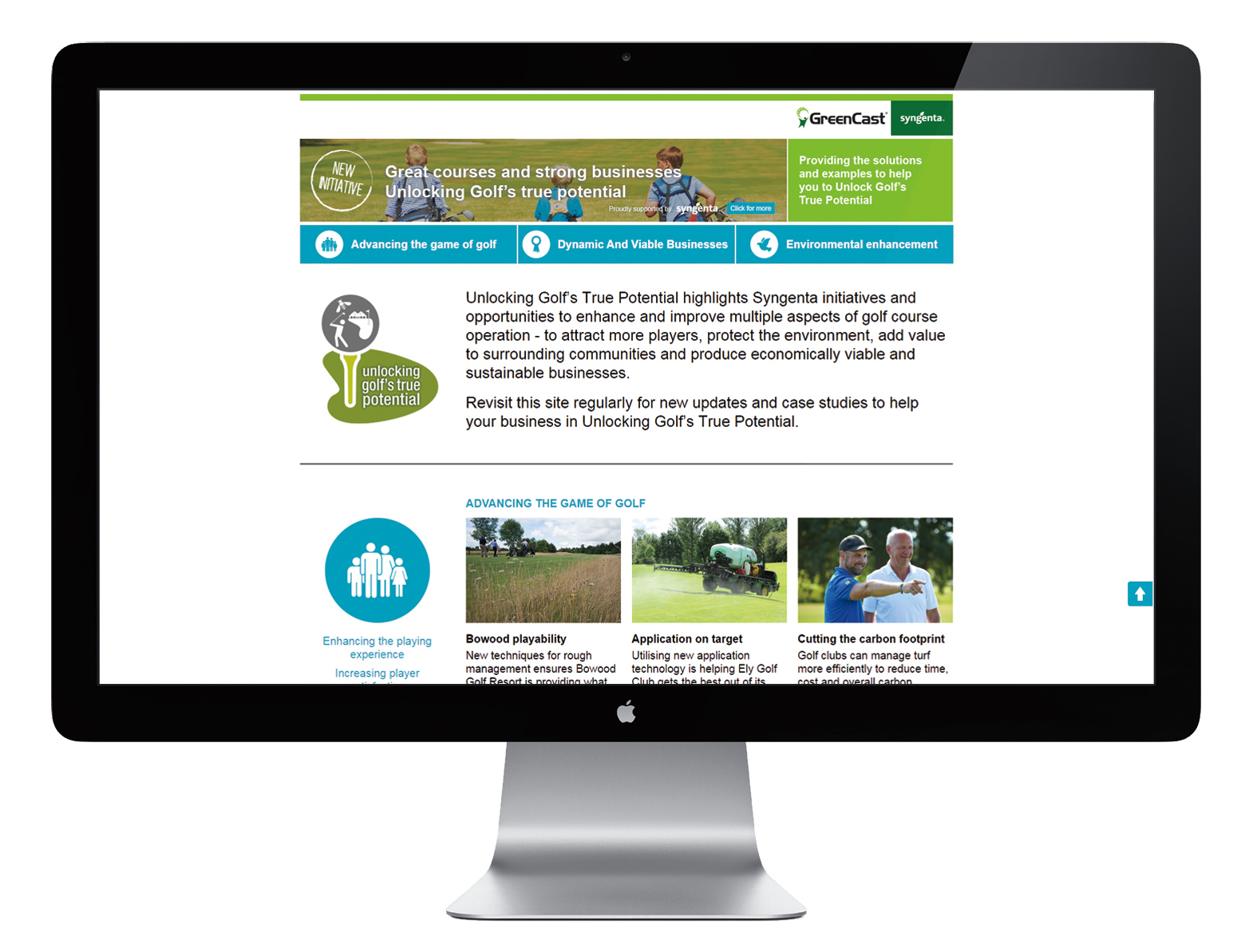 Syngenta Greencast website