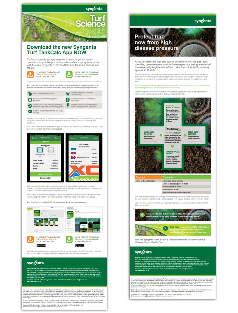 Syngenta Turf emails