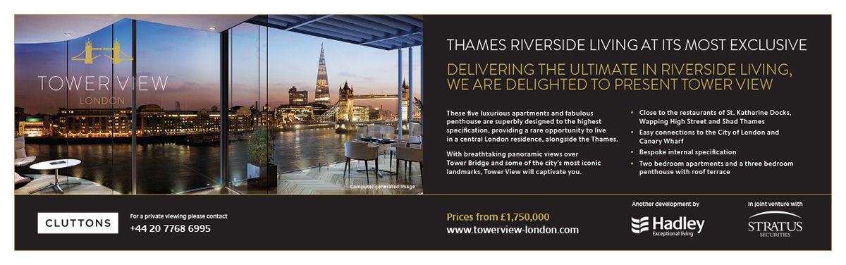 The Tower View London advert