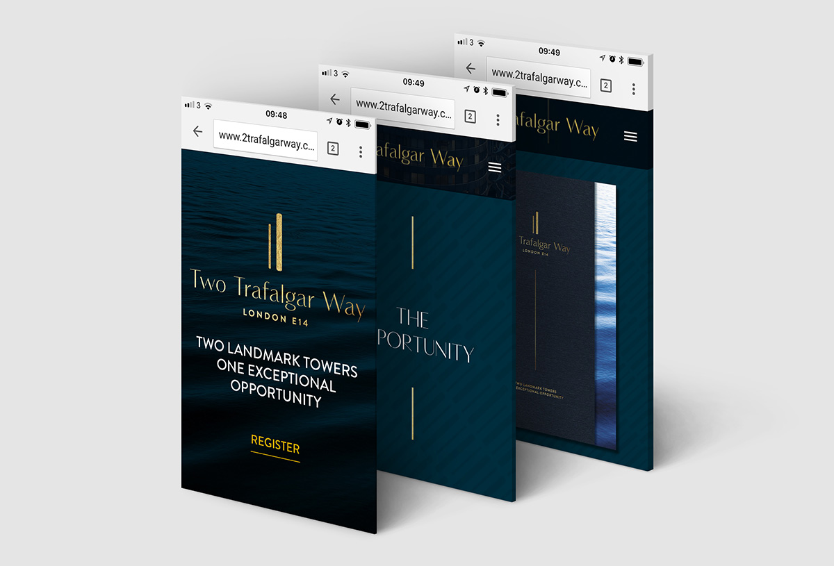 Two Trafalgar Way responsive website