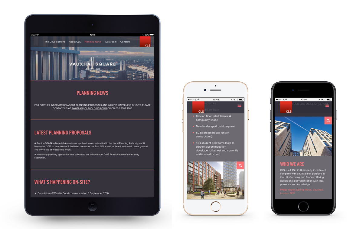 Vauxhall Square responsive website
