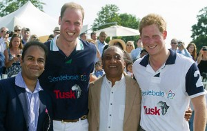Prince William and Prince Harry supporting charity