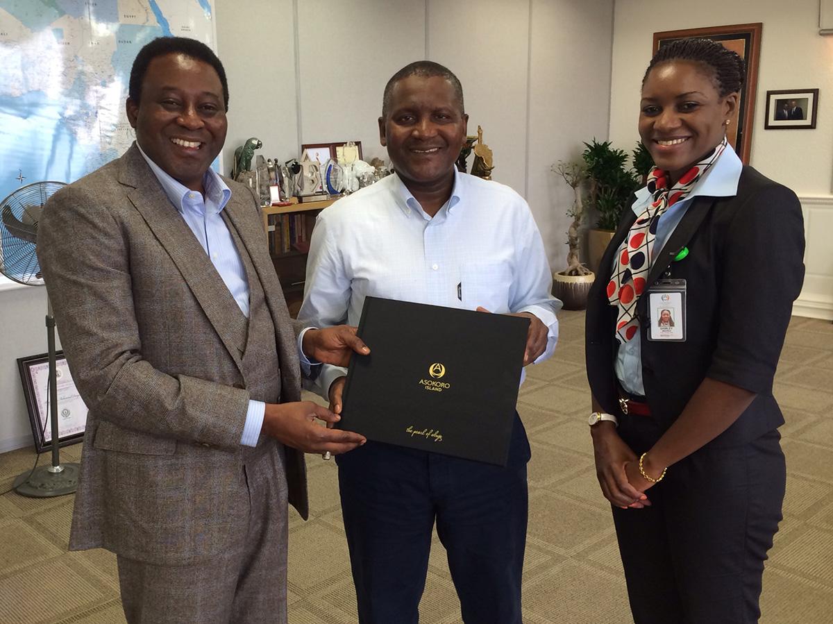 Aliko Dangote, Africa's richest man endorses Asokoro Island