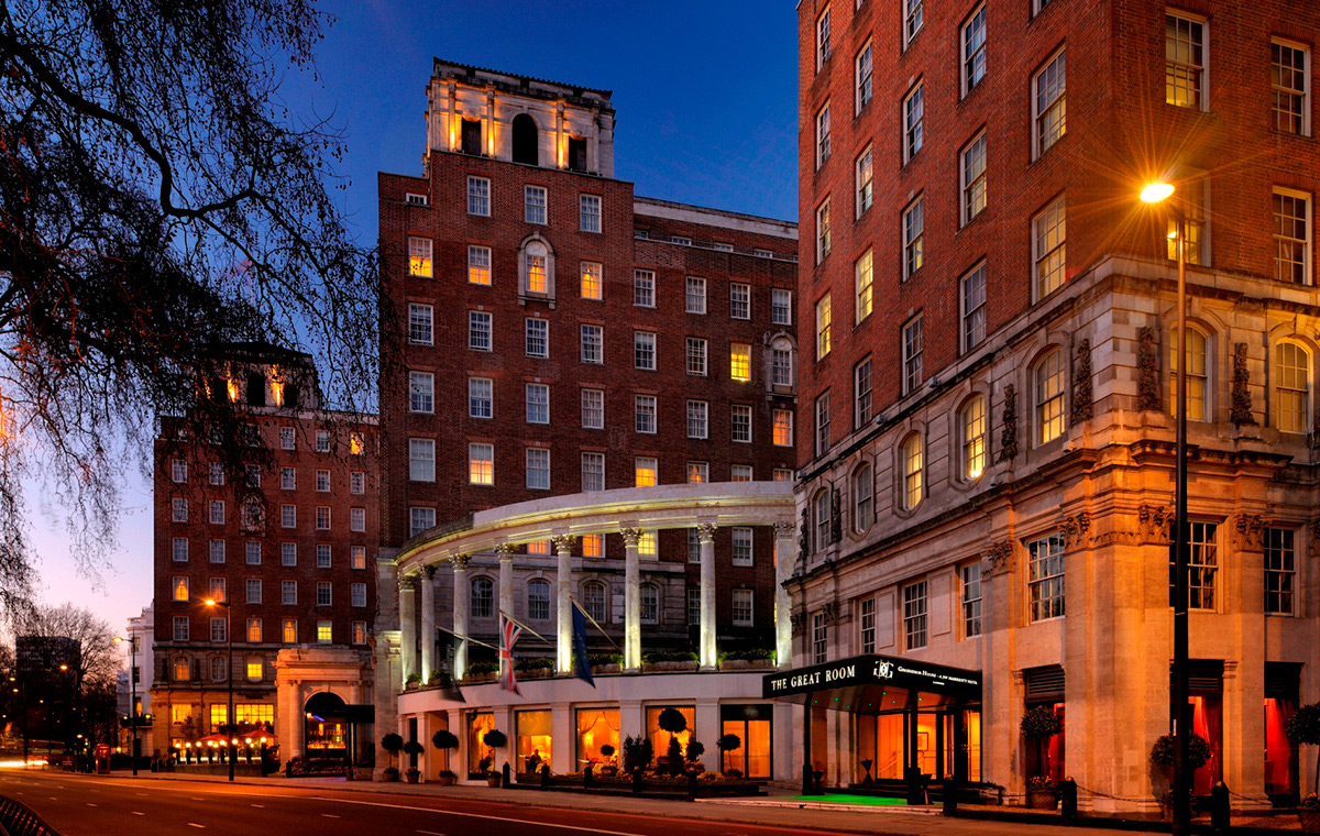 Exterior shot of Grosvenor House Hotel
