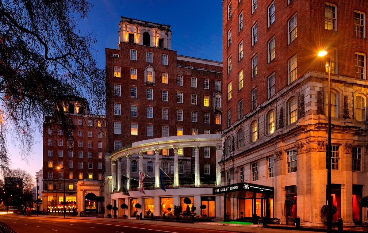 Exterior shot of Grosvenor House Hotel