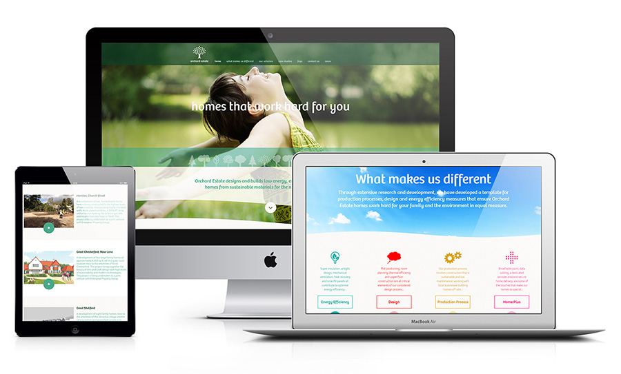 Orchard Estate responsive website