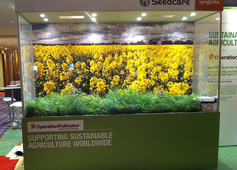 Syngenta AG's exhibition stand at this year's World Seed Congress