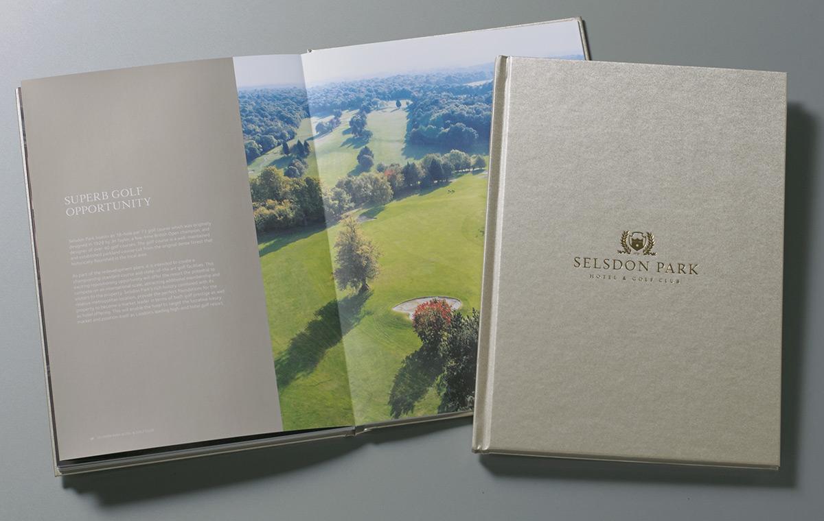 Selsdon Park Hotel lay flat brochure