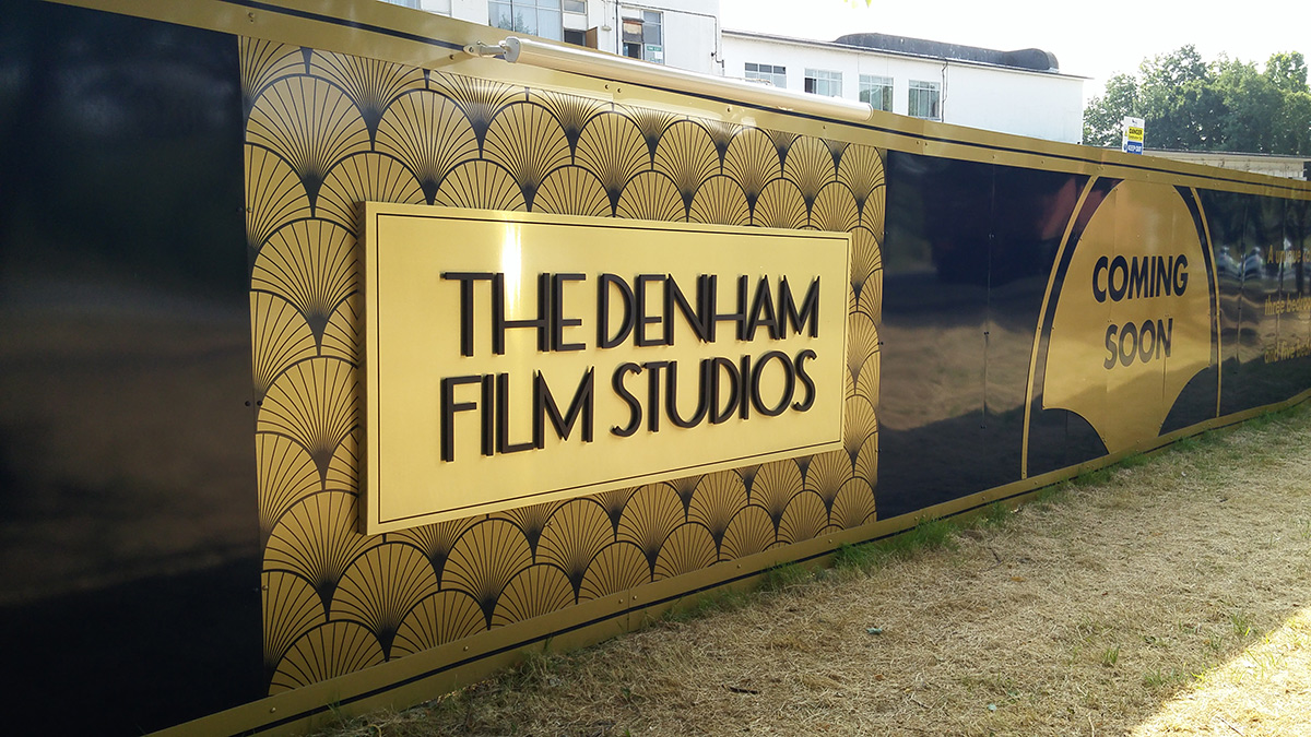 The Denham Film Studios hoarding