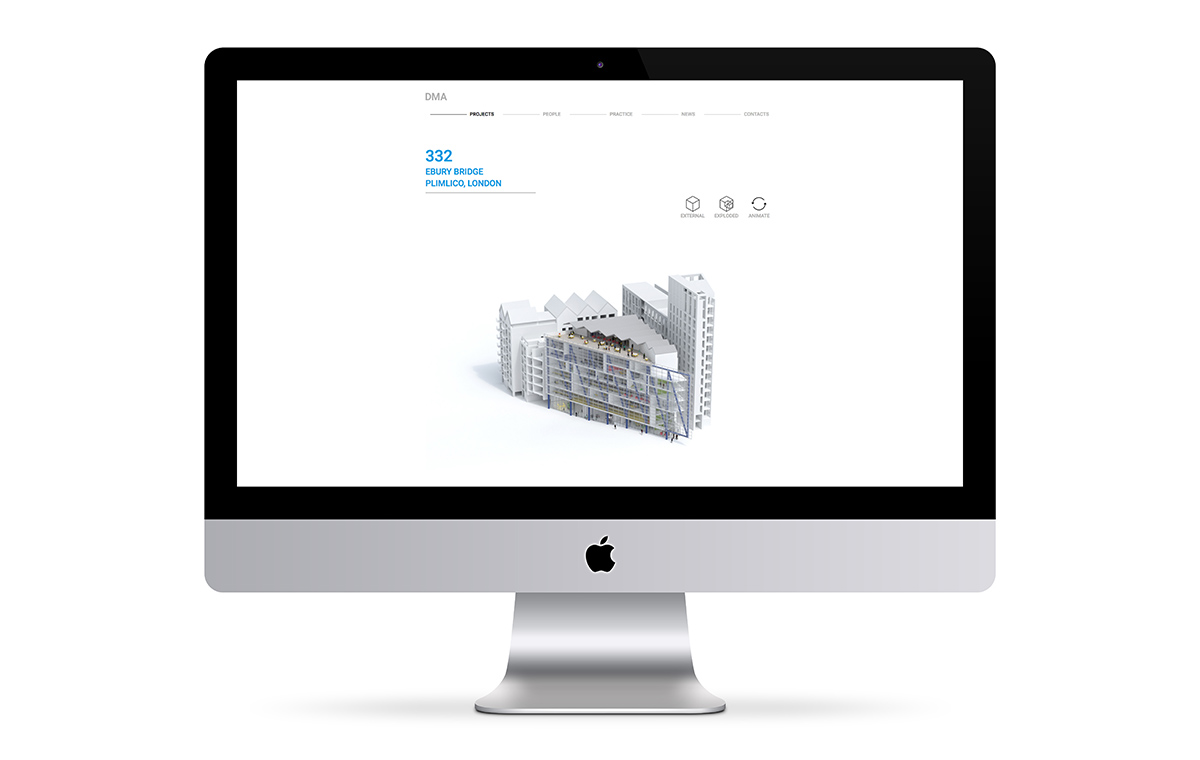 David Miller Architects website 360 animation