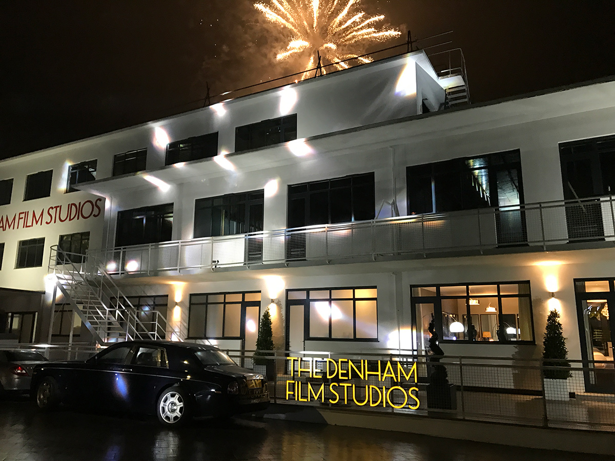 Fireworks at The Denham Film Studios